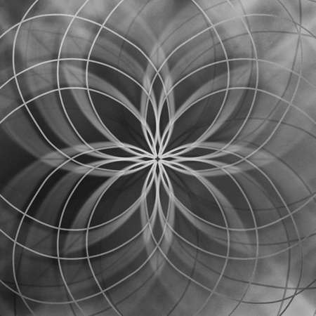 abstract star pattern on black and white background symmetrical curved lines in pretty design photo