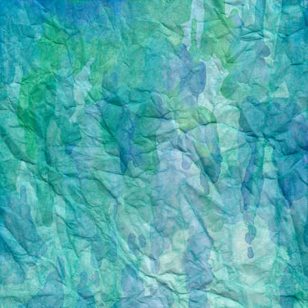 soft colors: digital and traditional watercolor background paint in soft pastel blue colors Stock Photo
