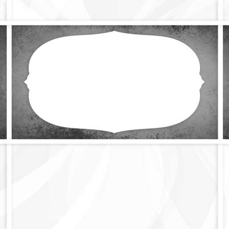 grunge backgrounds: white and gray background with large black texture stripe and white vintage frame layer in classy layout design