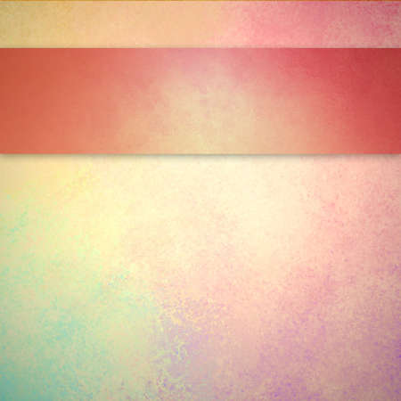 gold textured background: background in pastel spring color with pink ribbon or stripe layout design Stock Photo