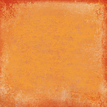 distressed paper: autumn color background in vibrant orange and red colors, bright orange center with dark red grunge border and elegant distressed grunge texture, old orange paper with vintage weathered texture