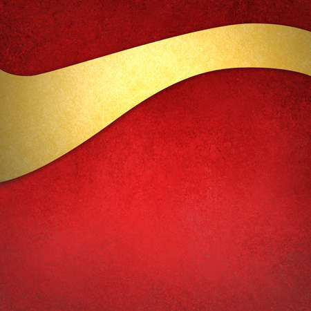 paints: old red background with gold wavy ribbon or banner, fancy Christmas background layout