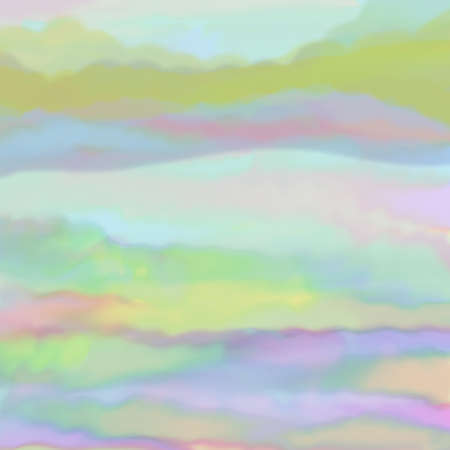 digital: digital watercolor background paint in pretty soft pastel colors in sunrise or sunset on clouds in sky concept