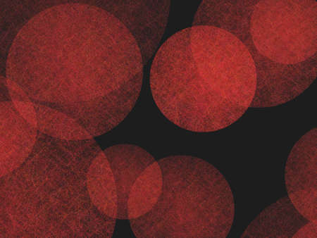 website: abstract background design, textured red balls floating on black background