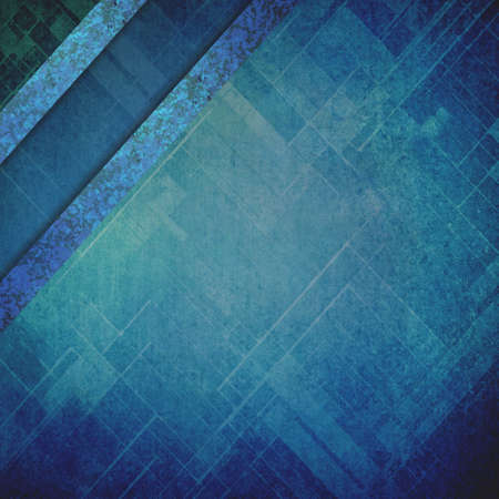worn: faded blue techno background grunge with corner ribbons or stripes design