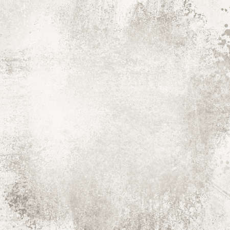 old white paper background with distressed vintage texture, faded sponged gray paint on weathered cement wall concept Stockfoto