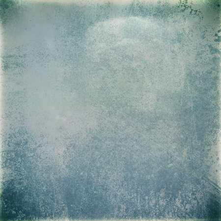 faded blue gray paper, vintage background design with grunge borders, spattered paint, scratches, and old worn texture layout