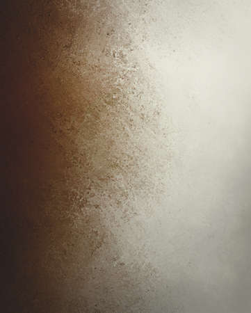 smeared: brown grunge texture on old vintage white paper background design Stock Photo