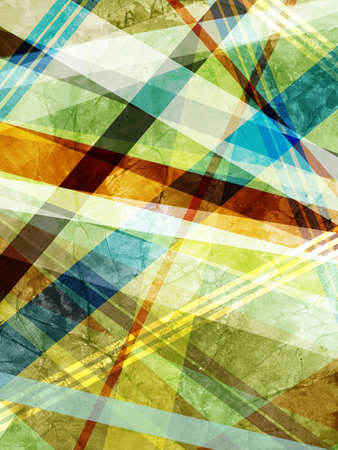 angled: abstract background with layers of striped angled lines and triangle shapes, geometric background design in blue green orange and yellow colors Stock Photo