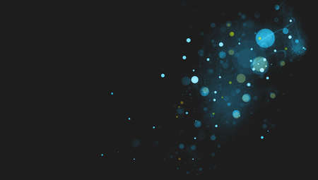 textured backgrounds: abstract black background with blue circles or bubbles floating in space with textured mist or scratch texture areas in soft blurred design
