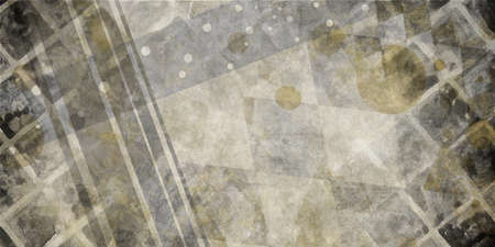 grid pattern: grungy black white gray and brown background design with lines rows blocks grid and stripes in messy random pattern and old vintage texture, faint double exposure design with spots and circles