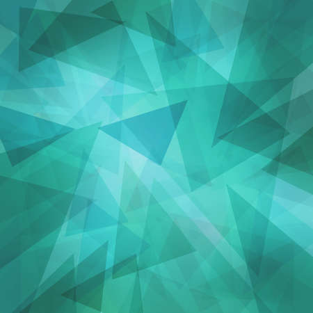 paper texture: triangle pattern background with random abstract background design and texture, teal blue green and white triangles layers