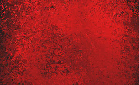 aged: Red background with black grunge texture, red shiny metal background illustration