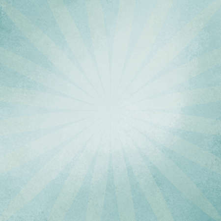 website: retro blue sunburst background in soft baby blue color, vintage radial starburst design in faded blue