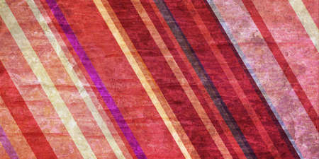 red wallpaper: colorful striped background in pink and cream hues, slanted diagonal lines in random pattern on vintage distressed crinkled paper red background Stock Photo