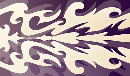 waves: abstract purple and white design, pale light color block wallpaper shapes on dark layered background in elegant fancy style decoration