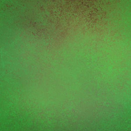 textured backgrounds: bright green background or painted wall with red rust color splash Stock Photo