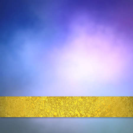 gold textured background: purple and blue background with gold ribbon