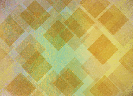 gold colour: abstract yellow diamond shapes on blue green background