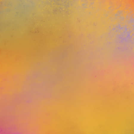 textured paper: sunset or sunrise background illustration, warm colors of orange gold pink purple and yellow in soft blurry textured background Stock Photo