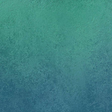 worn: blue green background with pitted distressed vintage texture, abstract grunge pattern, painted wall Stock Photo