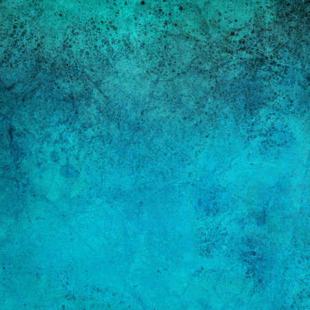 blotchy: old blue paper background with grunge and stains and distressed vintage texture design Stock Photo