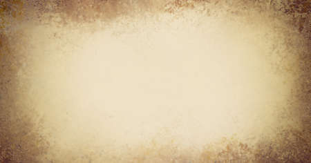 worn: light sepia brown paper background with vintage grunge or sponged paint texture with soft white center and stained umber and sienna border design