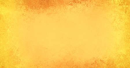 rustique vieux jaune orange et fond teinté d'or avec des bordures texture grunge et un design élégant de style vintage rustique, automne ou concept de fond Thanksgiving