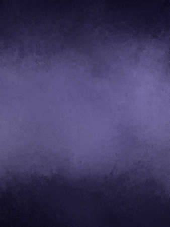 paints: dark purple cloudy texture on black background with distressed grunge border design Stock Photo