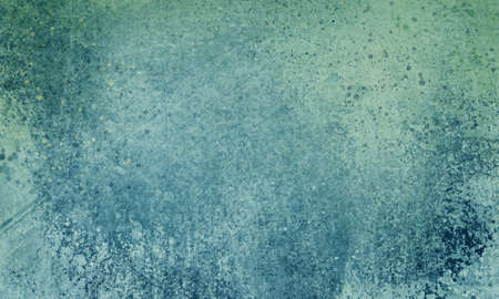 blue background with grunge texture and paint spatters, old elegant vintage background design