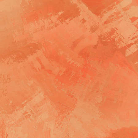 smeary: abstract orange background with random brush stroke pattern in watercolor splash design Stock Photo