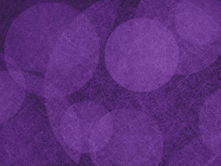 spot: abstract background design, textured purple balls floating on black background Stock Photo