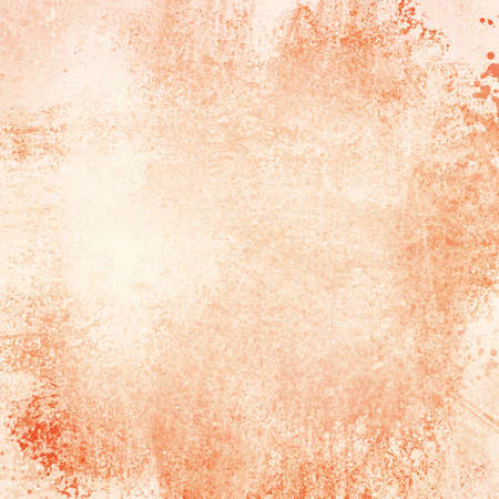 dirty: old orange paper background with grunge and messy stains and paint blotches, distressed faded wallpaper design with grungy antique texture