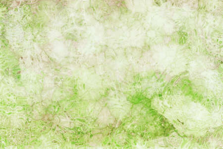 abstract glazig achtergrondpatroon in zachte pastelkleuren van groen en wit met bruine vlek grunge, glas getextureerde rimpelingen of rimpels in mooie grafische kunst ontwerp voor websites of projecten Stockfoto