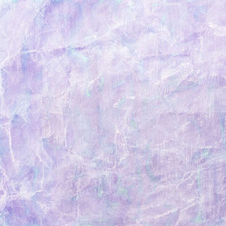 old wrinkled paper background with pastel watercolor paint wash illustration in purple and blue colors with white faded wrinkles or folded creases, crinkled paper texture