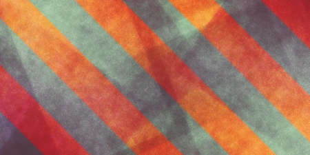 diagonal: abstract orange and red geometric background with gray stripe overlay Stock Photo