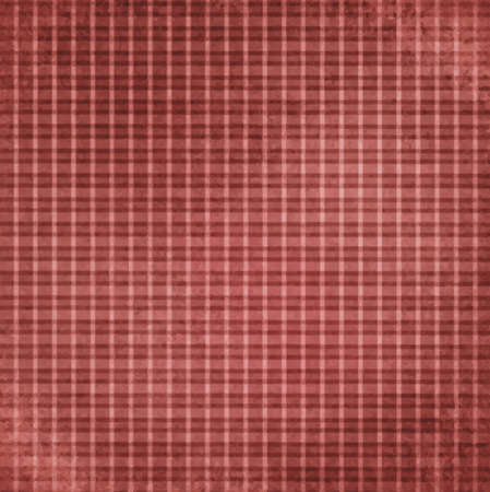 brown: faded vintage red checker background vector, striped shabby chic line design element on distressed texture, red plaid Christmas background