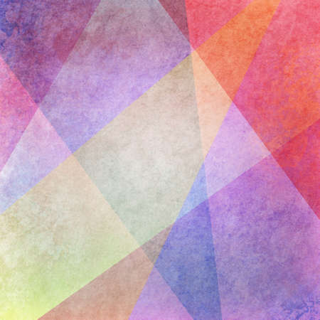 abstract colorful background design with grunge texture, purple pink blue red, yellow orange colors in random layers of shapes in artsy pattern