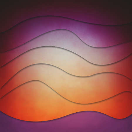 bright orange and purple layers of wavy stripes, abstract background