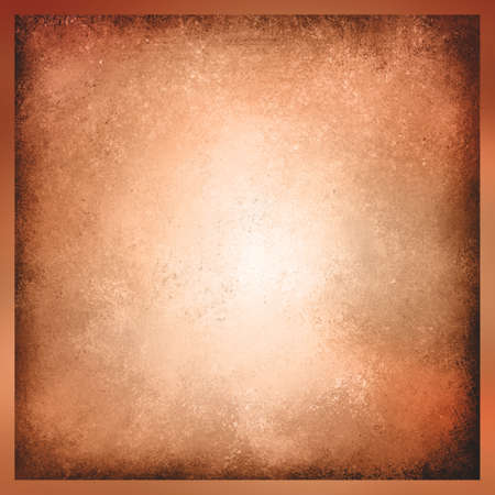 weathered: faded peach background, vintage color and sponged distressed texture in soft blended brush strokes with dark border