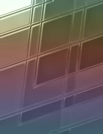 blue green background: abstract geometric background pattern with glass texture and lines, abstract slanted diagonal blocks and squares in modern art style design