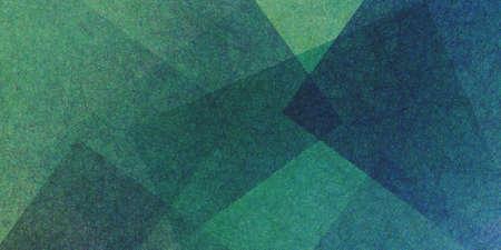 Abstracte groene blauwe en gele achtergrond, fijne getextureerde vierkanten en blokken in willekeurig overlappende patroon met copyspace