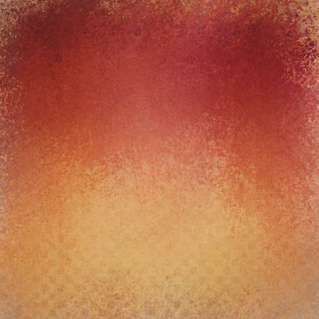 gold textured background: Red orange and gold background with textured grunge paint design of small faint dotted blocks in faded pattern with shabby grunge texture Stock Photo