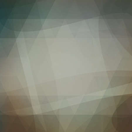 wave: abstract faded vintage background in dull blue gray and brown colors with abstract lines and low poly shape overlay
