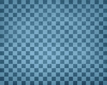 paints: vintage checkered background pattern, rows of dark blue and light blue squares with distressed vintage texture, blue checked wallpaper design, shabby chic country style