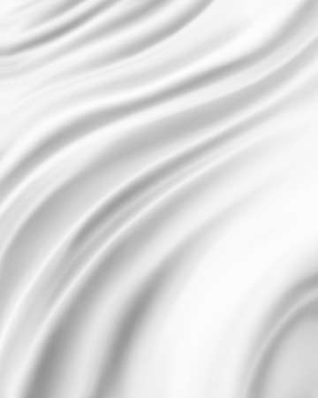 shiny: silky white material background, elegant luxury material with draped folds and wrinkled creases of smooth wavy silk fabric
