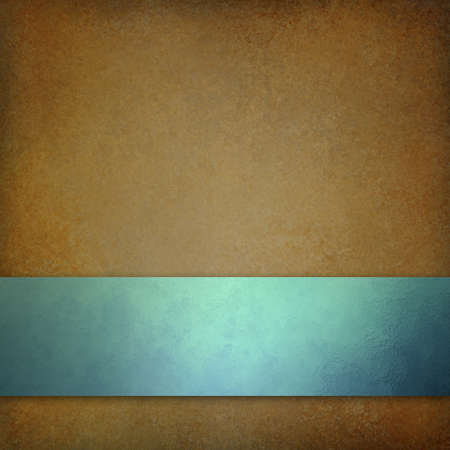 ribbon: Brown background with blue ribbon or stripe on bottom border
