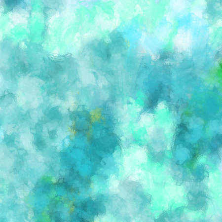 abstract blue and green background with blurred bokeh lights in soft glassy texture