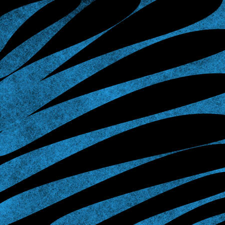 modern background: abstract blue and black striped pattern in zebra like design element with fine texture detail Stock Photo