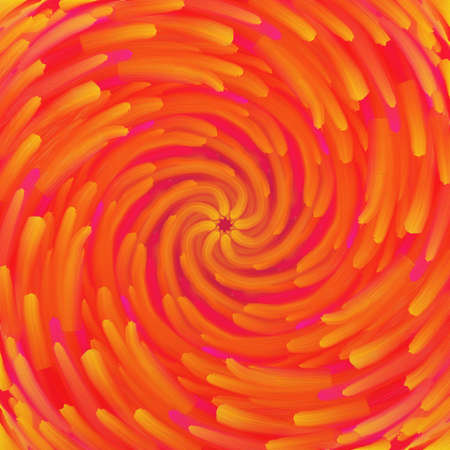 artsy abstract background with swirled streaks of red yellow and pink paint with star center, unique starburst or sunburst pattern in bold bright colors